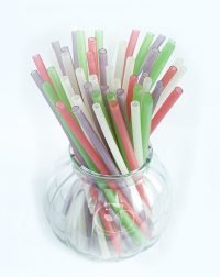Rice tapioca edible straw