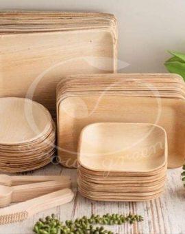 Chén, đĩa mo cau/Areca Palm Leaf plates